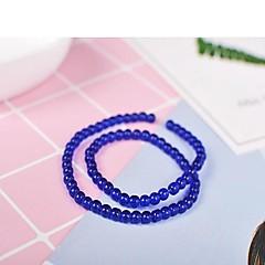 baratos Miçangas & Fabricação de Bijuterias-Jóias DIY 65 pçs Contas Resina Cinzento Roxo Vermelho Verde Azul Redonda Bead 0.4 cm faça você mesmo Colar Pulseiras