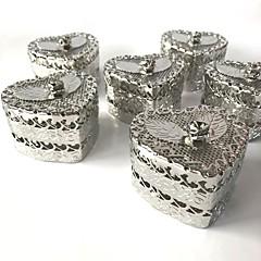 baratos Suporte para Lembrancinhas-Formato de coração Ferro (niquelado) Suportes para Lembrancinhas com Flor Rosette Diversos Domésticos-1 Lote