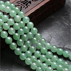 baratos Miçangas & Fabricação de Bijuterias-Jóias DIY 48 pçs Contas Cristal Verde Redonda Bead 0.8 cm faça você mesmo Colar Pulseiras