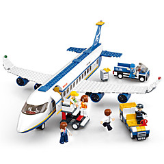 Sluban Rakennuspalikat Lentokone Lelut Lentokenttä Ajoneuvot DIY Eco Friendly 463 Pieces