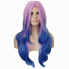 tanie Peruki syntetyczne-Peruki syntetyczne Kędzierzawy Body wave Gęstość Bez czepka Damskie Purpurowy Niebieski Halloween Wig Peruka imprezowa Lolita Wig cosplay