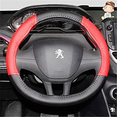 billige Rattovertrekk til bilen-Rattovertrekk til bilen 38 cm Svart / Rød For Peugeot 308 / 2008 / 308S Alle år