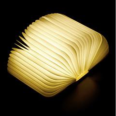 billiga Dekorativ belysning-1st bok LED Night Light Varmt vit Inbyggd Li-batteridriven Vikbar Uppladdningsbar Dekorativt ljus Med USB-port Enkel att bära