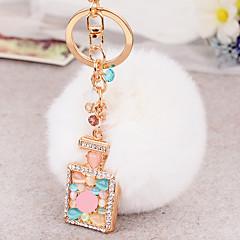 billiga Nyckelringsgåvor-Födelsedag Vänner Bröllop Nyckelringsfavörer Kaninpäls Zink Alloy Nyckelringsgåvor - 1