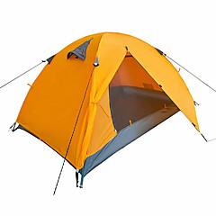 billige Telt og ly-2 personer Telt Dobbelt camping Tent Ett Rom Brette Telt Fukt-sikker Velventilert Vanntett Bærbar Vindtett Ultraviolet Motstandsdyktig