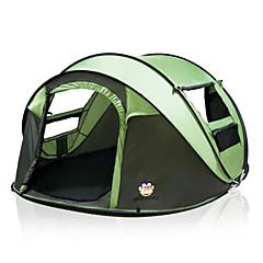 billige Telt og ly-5 person utendørs Turtelt Automatisk Kuppel Ett Rom Dobbelt Lagdelt 2000-3000 mm Telt til Camping Reise 200*280*120 cm