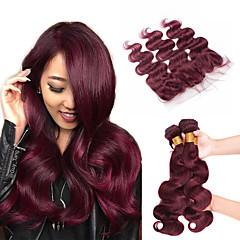 Χαμηλού Κόστους Ένα πακέτο μαλλιά-Βραζιλιάνικη Κυματομορφή Σώματος Φυσικά μαλλιά Υφάνσεις ανθρώπινα μαλλιών / Μαλλιά υφάδι με κλείσιμο Υφάνσεις ανθρώπινα μαλλιών Επεκτάσεις ανθρώπινα μαλλιών