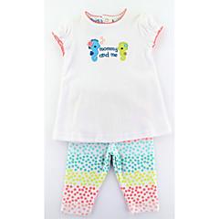 billige Tøjsæt til piger-Nyfødt Pige Afslappet / Aktiv / Basale Dyr Broderi Kortærmet Lang Lang Bomuld Tøjsæt