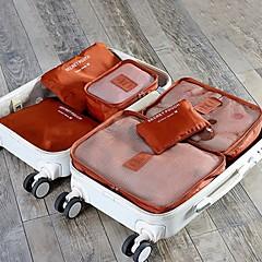 Χαμηλού Κόστους SlickDeal-6 σύνολα Τσάντα ταξιδιού Αξεσουάρ ταξιδίου και αποσκευών Κύβοι συσκευασίας Αδιάβροχη Με προστασία από την σκόνη Πτυσσόμενο Ανθεκτικό