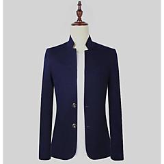 Herrn Solide Geschäftlich Ausgehen Standard Blazer, V-Ausschnitt Frühling Polyester