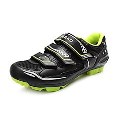 billige Sykkelsko-Tiebao® Voksne Mountain Bike-sko Karbonfiber Anti-Skli, Fort Tørring, Pustende Sykling Grønn og Svart Herre