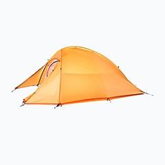 billige Telt og ly-Naturehike 2 personer Turtelt Dobbelt Lagdelt Stang Kuppel camping Tent Utendørs Regn-sikker, Fort Tørring, Vindtett til Camping & Fjellvandring 2000-3000 mm Oxfordstoff, Nylon 210*125*100 cm