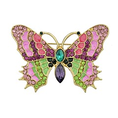 cheap Brooches-Women's Butterfly Rhinestone Brooches - Simple / Basic Gold Brooch For Daily / New Year