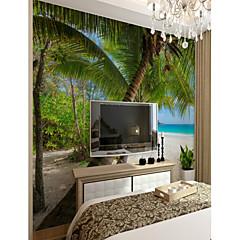 billige Tapet-3d kokosnøtt treet tilpasset stor veggdekorasjon veggmaleri tapet passer soverom restaurant havutsikt tre