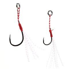 billige Fiskekroker-5pcs Tynn Hengespiker Søfisking Agn Kasting Spinne Vippefiskeri Ferskvannsfiskere Generelt fisking Lokke Fiske Bass Fiske Jigkrok