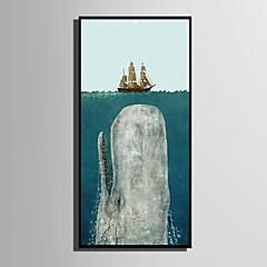 billige Innrammet kunst-Dyr Tegneserie Tegning Veggkunst, Plastikk Materiale med ramme For Hjem Dekor Rammekunst Stue