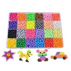 baratos -24 crystal water mist Magic beads suit Quebra-Cabeças 3D Família Interação pai-filho Plástico 3600pcs Crianças Dom