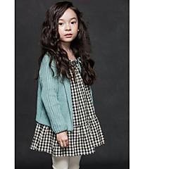 billige Sweaters og cardigans til piger-Baby Pige Simple / Aktiv Daglig / Ferie Ensfarvet Langærmet Normal Bomuld Trøje og cardigan Rød 100