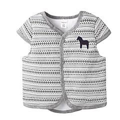 billige Overtøj til babyer-Baby Pige Basale Daglig Geometrisk Kortærmet Polyester dun- og bomuldsforet Lyserød