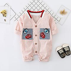 billige Babytøj-Baby Pige Simple / Aktiv Trykt mønster Halvlange ærmer Bomuld Overall og jumpsuit
