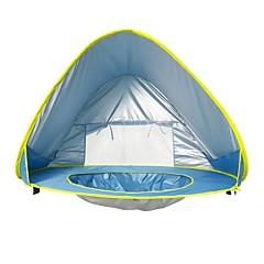 billige Telt og ly-1 person Strandtelt Skjermtelt Enkelt camping Tent Ett Rom Automatisk Telt Vindtett UV-bestandig Lettvekt til Utendørs Trening Strand