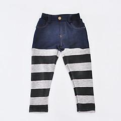 billige Bukser og leggings til piger-Pige Bukser Daglig Ferie Stribet, Bomuld Polyester Forår Efterår Langærmet Simple Grå