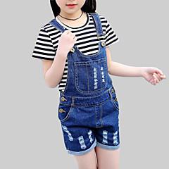 billige Bukser og leggings til piger-Børn Pige Afslappet Ensfarvet Kortærmet Jeans