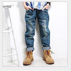 tanie Odzież dla chłopców-Dzieci Dla chłopców Solidne kolory Spodnie Niebieski 150