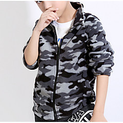 tanie Odzież dla chłopców-Dzieci Dla chłopców Vintage Codzienny Geometric Shape Długi rękaw Poliester Kurtka / płaszcz Czarny 130