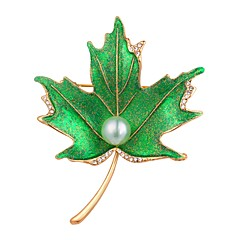 cheap Brooches-Women's Brooches - Gold Plated Leaf Vintage, Fashion Brooch Silver / Golden For Evening Party / Prom