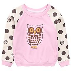 billige Hættetrøjer og sweatshirts til piger-Børn Pige Simple Prikker / Blomstret Normal Bomuld Hættetrøje og sweatshirt Lyserød