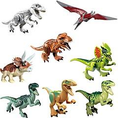 hesapli Kilitleme Blokları-Original Jurassic World Tyrannosaurus Building Blocks Jurrassic Park Kilitlenen Bloklar Dinozor Hayvan Klasik 8pcs Parçalar Çocuklar için