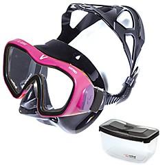 billiga Dykmasker, snorklar och simfötter-V.DIVE Vertical Snorkelmask / Simglasögon professionell nivå, Bekväm enda fönster - Simmning, Dykning Härdat glas - för Vuxen Rödsvart /