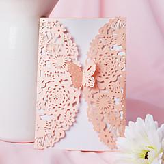 preiswerte Hochzeitseinladungen-Glatte Karte Hochzeits-Einladungen 20-Pack - Einladungs-Sets Künsterlischer Stil Perlenpapier