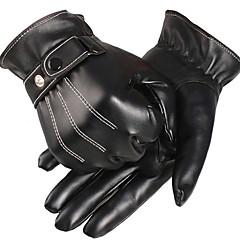 baratos Luvas de Motociclista-Esportivo Dedo Total Homens Motos luvas Couro PU/Couro de Poliuretano Manter Quente Forro de Velocino Esportes