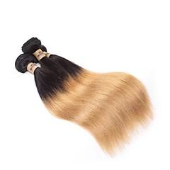 billige Remy fletninger af menneskehår-Jomfruhår / Remy hår Hår vævning Man Weave Lige Brasiliansk hår 300 g 12 måneder Festival