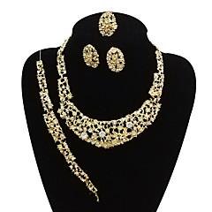 baratos Conjuntos de Bijuteria-Mulheres Conjunto de jóias - Vintage, Importante, Oversized Incluir Bracelete / Brincos Curtos / Colares em Corrente Dourado Para Festa / Formal / Anel de declaração