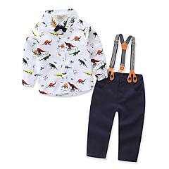 tanie Odzież dla chłopców-Brzdąc Dla chłopców Prosty / Casual Impreza Zwierzę Długi rękaw Bawełna Komplet odzieży