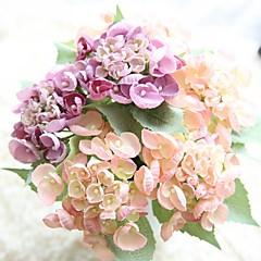 billige Kunstige blomster-Kunstige blomster 1 Gren Rustikk Bryllupsblomster Hortensiaer Bordblomst