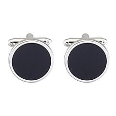 cheap Men's Cufflinks-Circle Black Cufflinks Copper Asian Vintage Daily Formal Men's Costume Jewelry