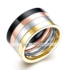 cheap Men's Jewelry-Men's Cool Stainless Steel Ring Set - 4pcs Circle Rock Rainbow Ring For Daily / Work
