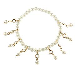 tanie Piercing-Rhinestone Pearl imitacja Łańcuszek na kostkę - Damskie Gold Łańcuszek na kostkę Na Prezent