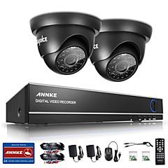 Χαμηλού Κόστους SANNCE®-sannce® 4ch 720p dvr σύστημα παρακολούθησης με 4hd 1280 * 720tvl εξωτερικές κάμερες ασφαλείας