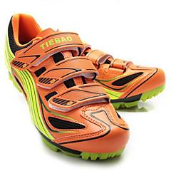 billige Sykkelsko-Tiebao® Mountain Bike-sko Karbonfiber Anti-Skli, Anvendelig, Pusteevne Sykling Oransje Herre