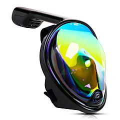 billiga Dykmasker, snorklar och simfötter-Dykmasker / Snorkelmask Heltäckande ansiktsmasker, Under vattnet, UV-400 skydd enda fönster - Simmning, Dykning, Snorkelfenor Kiselgel - för Vuxen Svart / 180°