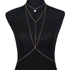 tanie Piercing-Łańcuszek na brzuch Bikini, Moda Damskie Złoty / Srebrny Biżuteria Na Wyjściowe / Bikini