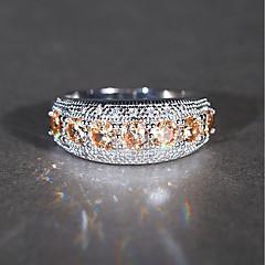 levne Prsteny-Syntetický akvamarín / Kubický zirkon Band Ring - Vintage, Elegantní 5 / 6 / 7 Světle hnědá Pro Svatební / Zásnuby / Obřad