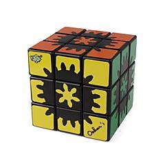 billiga Leksaker och spel-Rubiks kub 1 PCS LANLAN 1 Rainbow Cube 3*3*3 Mjuk hastighetskub Magiska kuber Pusselkub Genomskinligt klistermärke Mode Present Unisex
