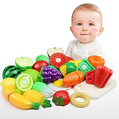 billiga Leksakskök och -mat-Kökshandduk Klassisker Tema Föräldra-Barninteraktion Utsökt Simulering Ny Design Mjuk plast Alla Barn Present 15pcs