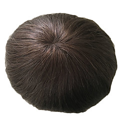 cheap Wigs & Hair Pieces-Men's Human Hair Toupees Straight / Classic 100% Hand Tied Daily